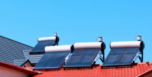 How is solar thermal energy produced?